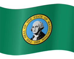 Flagge von Washington - Winken
