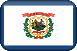 Flagge von West Virginia - 3D
