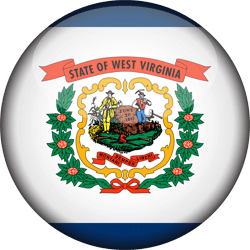 Flagge von West Virginia - 3D Runde