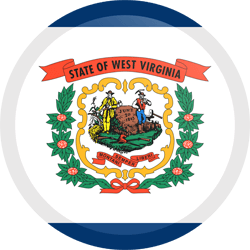 Flagge von West Virginia - Knopf Runde