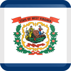 Vlag van West Virginia - Knop Vierkant