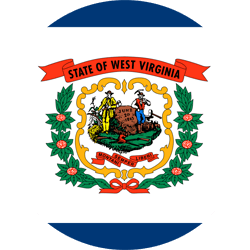 Drapeau de West Virginia - Rond
