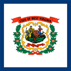 Flagge von West Virginia - Quadrat