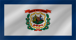 Flagge von West Virginia - Welle