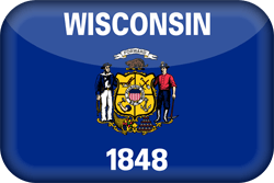 Flag of Wisconsin - 3D