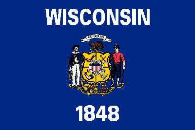 Flagge von Wisconsin - Original