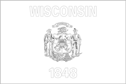 Wisconsin flag coloring - free download