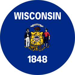 Flag of Wisconsin - Round