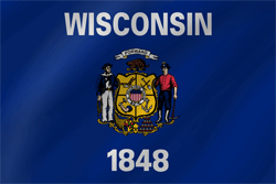 Flag of Wisconsin - Wave
