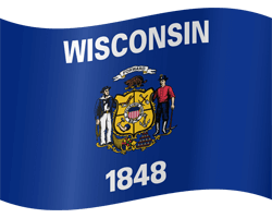 Flag of Wisconsin - Waving
