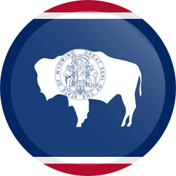 Flag of Wyoming - Button Round