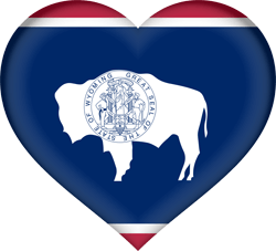 Flag of Wyoming - Heart 3D