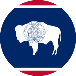 Flag of Wyoming - Round