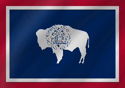 Vlag van Wyoming - Golf
