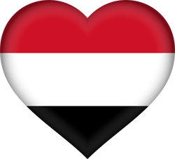 Flag of Yemen - Heart 3D