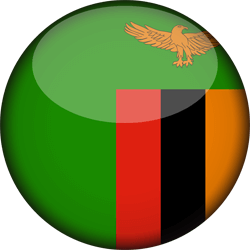 Flag of Zambia - 3D Round