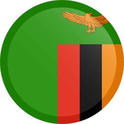 Flag of Zambia - Button Round