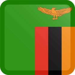 Flag of Zambia - Button Square