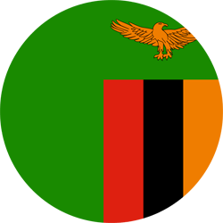 Flag of Zambia - Round