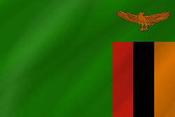 Flag of Zambia - Wave