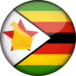 Flag of Zimbabwe - 3D Round