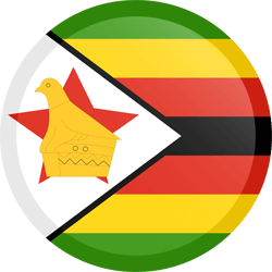 Flag of Zimbabwe - Button Round