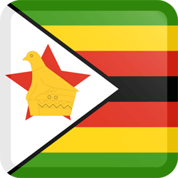 Flag of Zimbabwe - Button Square