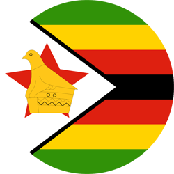 Flag of Zimbabwe - Round