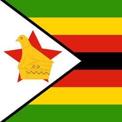 Zimbabwe flag icon - free download