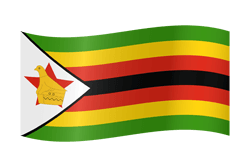 Flag of Zimbabwe - Waving
